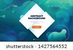teal liquid color background... | Shutterstock .eps vector #1427564552