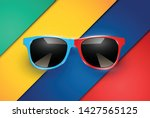 colorful sheets of papers with... | Shutterstock .eps vector #1427565125