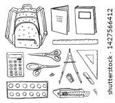 school stationery. hand drawn...   Shutterstock .eps vector #1427566412