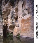 West Clear Creek, Coconino National Forest, Arizona/West Clear Creek/One of the best fishing holes/creeks in Arizona. To get there, rock face walls like this one must be challenged.