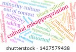 cultural misappropriation word... | Shutterstock .eps vector #1427579438