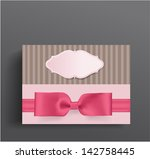 girly boxe and bow | Shutterstock .eps vector #142758445