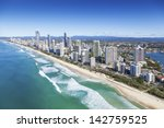 aerial view of surfers paradise ... | Shutterstock . vector #142759525