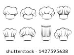 cook chef hats icons. hand... | Shutterstock .eps vector #1427595638