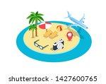 traveling isometric creative...   Shutterstock .eps vector #1427600765
