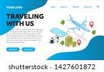 traveling isometric creative...   Shutterstock .eps vector #1427601872