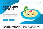 traveling isometric creative...   Shutterstock .eps vector #1427601875