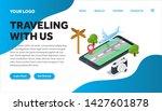 traveling isometric creative...   Shutterstock .eps vector #1427601878
