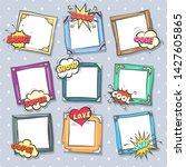 comics design frames. beautiful ... | Shutterstock .eps vector #1427605865