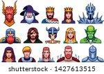 vector set of medieval fantasy... | Shutterstock .eps vector #1427613515