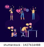 depressed stressed girls and... | Shutterstock .eps vector #1427616488