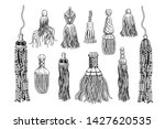 a set of various tassels and... | Shutterstock .eps vector #1427620535
