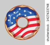 glazed donut with the flag of... | Shutterstock .eps vector #1427623748