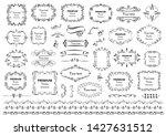 calligraphic design elements .... | Shutterstock .eps vector #1427631512