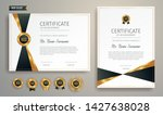 black and gold certificate of... | Shutterstock .eps vector #1427638028