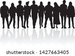 group of people. crowd of... | Shutterstock .eps vector #1427663405