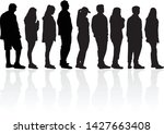group of people. crowd of... | Shutterstock .eps vector #1427663408