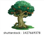 beautiful tree with fruits... | Shutterstock .eps vector #1427669378