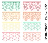set of colorful seamless... | Shutterstock .eps vector #1427674355
