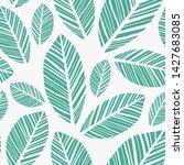 leaves pattern. endless... | Shutterstock .eps vector #1427683085