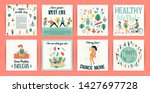 vector templates with people... | Shutterstock .eps vector #1427697728