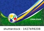 2019 abstract green brazilian... | Shutterstock .eps vector #1427698208