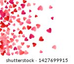 ruby red flying hearts bright... | Shutterstock .eps vector #1427699915