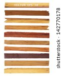 vector wood plank  isolated on... | Shutterstock .eps vector #142770178