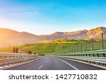 view on the highway road and... | Shutterstock . vector #1427710832