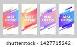 set of sale banner for social... | Shutterstock .eps vector #1427715242