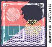 abstract silk hijab creative... | Shutterstock .eps vector #1427716682