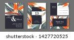 botanical wedding invitation... | Shutterstock .eps vector #1427720525