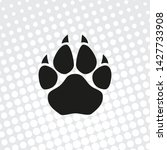 Pop Art Style Paw Vector Icons