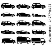 car icon side view set  black... | Shutterstock .eps vector #1427746175