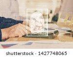 fingerprint scan provides safe... | Shutterstock . vector #1427748065