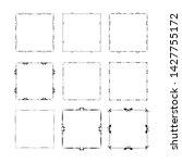 set of vintage frames on white... | Shutterstock . vector #1427755172