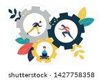 business concept vector...   Shutterstock .eps vector #1427758358