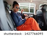 Rich Business African Woman On...