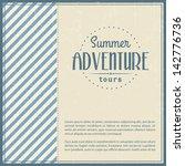 retro elements for summer... | Shutterstock .eps vector #142776736
