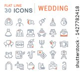 set of vector line icons of... | Shutterstock .eps vector #1427782418