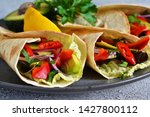 classic mexican cuisine. tacos... | Shutterstock . vector #1427800112