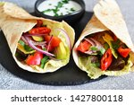 classic mexican cuisine. tacos... | Shutterstock . vector #1427800118
