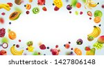 fruits isolated on white... | Shutterstock . vector #1427806148