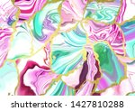 liquid neon color marble... | Shutterstock .eps vector #1427810288