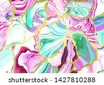 liquid neon color marble...   Shutterstock .eps vector #1427810288