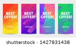 set of sale banner for social... | Shutterstock .eps vector #1427831438