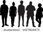 group of people. crowd of... | Shutterstock .eps vector #1427833475