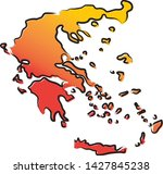 stylized yellow red gradient...   Shutterstock .eps vector #1427845238