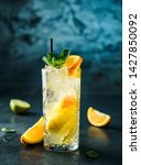 fresh lemonade with mint ... | Shutterstock . vector #1427850092