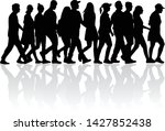 group of people. crowd of... | Shutterstock .eps vector #1427852438